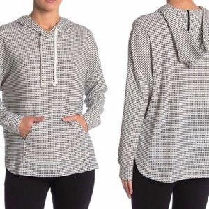 MELLODAY   Black + White Checkered Pullover Hoodie